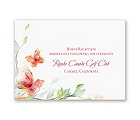 Watercolor Butterflies - Red Reception Card