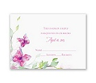 Watercolor Butterflies - Fuchsia Response Card and Envelope
