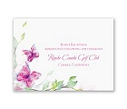 Watercolor Butterflies - Fuchsia Reception Card