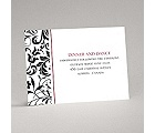 Lavish Damask - Black Reception Card