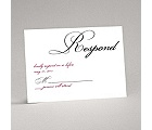 Lives Joining - Black Response Card and Envelope