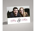 Lives Joining - Black Thank You Card and Envelope