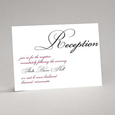 Lives Joining - Black Reception Card