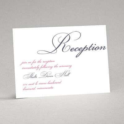 Lives Joining - Purple Reception Card