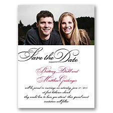 Lives Joining - Black Save the Date Card