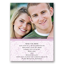 Flourish Frame - Purple - Save the Date Card