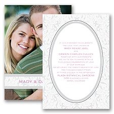 Flourish Frame - Grey - Invitation