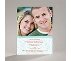 Flourish Frame - Teal - Save the Date Card