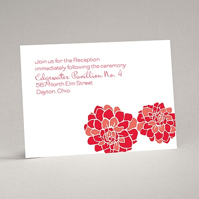 Love Blooms - Red - Reception Card