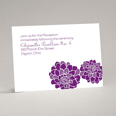 Love Blooms - Purple - Reception Card
