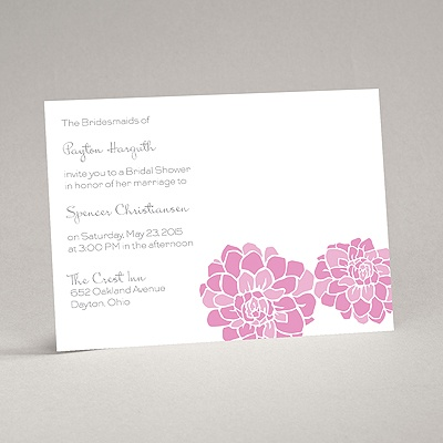 Love Blooms - Pink - Bridal Shower Invitation