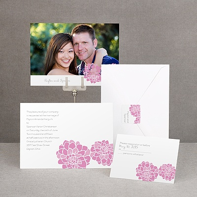 Love Blooms - Pink - Invitation