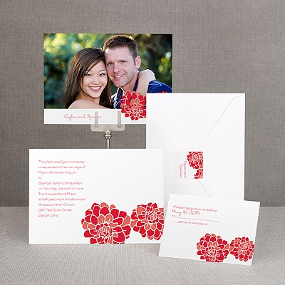 Love Blooms - Red - Invitation