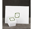 Damask Corners - Green - Seal