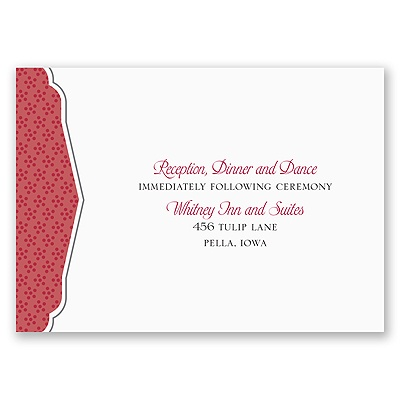 Filigree Monogram - Merlot - Reception Card
