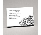 Fanciful Filigree - Black Reception Card