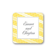 Swirls and Stripes - Yellow - Seal