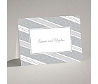 Swirls and Stripes - Grey - Thank You Card and Envelope