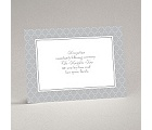 Swirls and Stripes - Grey - Reception Card