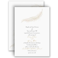Fanciful Feather - Champagne Invitation