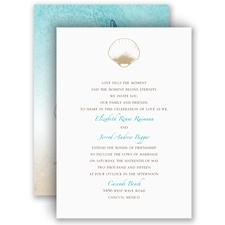 Beach Romance - Champagne - Invitation