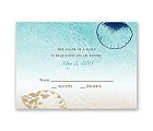 Beach Romance - Champagne - Response Card and Envelope