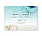 Beach Romance - Champagne - Reception Card
