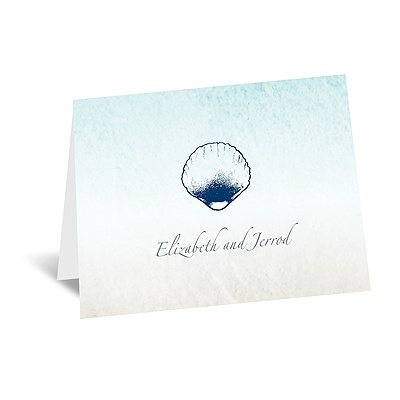 Beach Romance - Thank You Card and Envelope