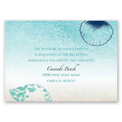 Beach Romance - Surf - Reception Card
