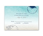 Beach Romance - Sterling - Response Card and Envelope