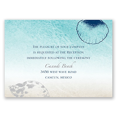 Beach Romance - Sterling - Reception Card