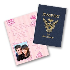 Passport to Romance - Pink - Invitation