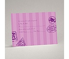 Passport to Romance - Purple - Response Card and Envelope