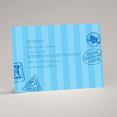 Passport to Romance - Blue - Reception Card