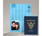 Passport to Romance - Blue - Save the Date Card