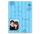 Passport to Romance - Blue - Bridal Shower Invitation