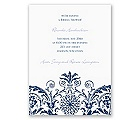 Vintage Damask - Navy - Bridal Shower Invitation