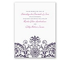 Vintage Damask - Purple - Save the Date Card