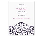 Vintage Damask - Purple - Bridal Shower Invitation
