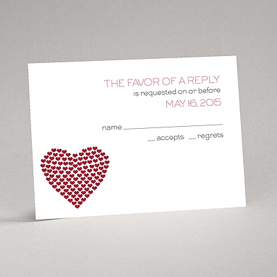 Heart of My Heart - Red Response Card and Envelope