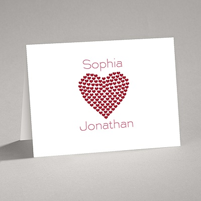 Heart of My Heart - Red Thank You Card and Envelope