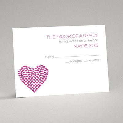 Heart of My Heart - Fuchsia Response Card and Envelope