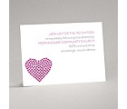 Heart of My Heart - Fuchsia Reception Card