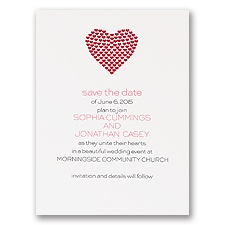 Heart of My Heart - Red Save the Date Card