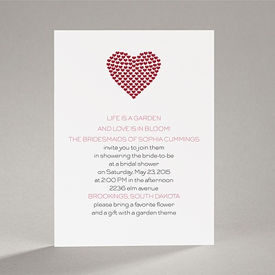 Heart of My Heart - Red Bridal Shower Invitation