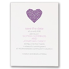 Heart of My Heart - Purple Save the Date Card