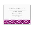 Fun Frame - Purple - Response Card and Envelope