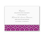 Fun Frame - Purple - Reception Card