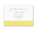 Fun Frame - Yellow - Response Card and Envelope