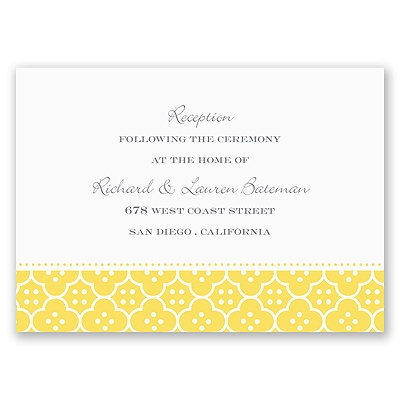 Fun Frame - Yellow - Reception Card